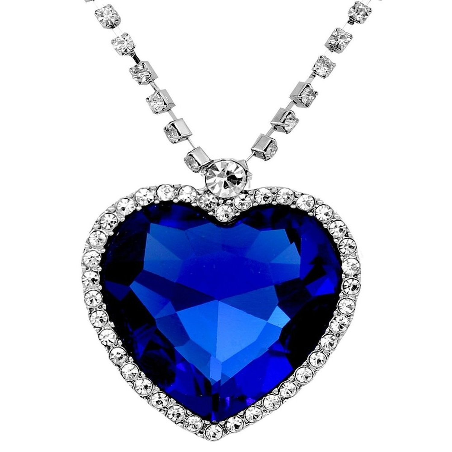 Buy shining diva fashion the famous titanic heart of ocean pendant buy shining diva fashion the famous titanic heart of ocean pendant necklace for women girls online at low prices in india amazon jewellery store aloadofball Choice Image