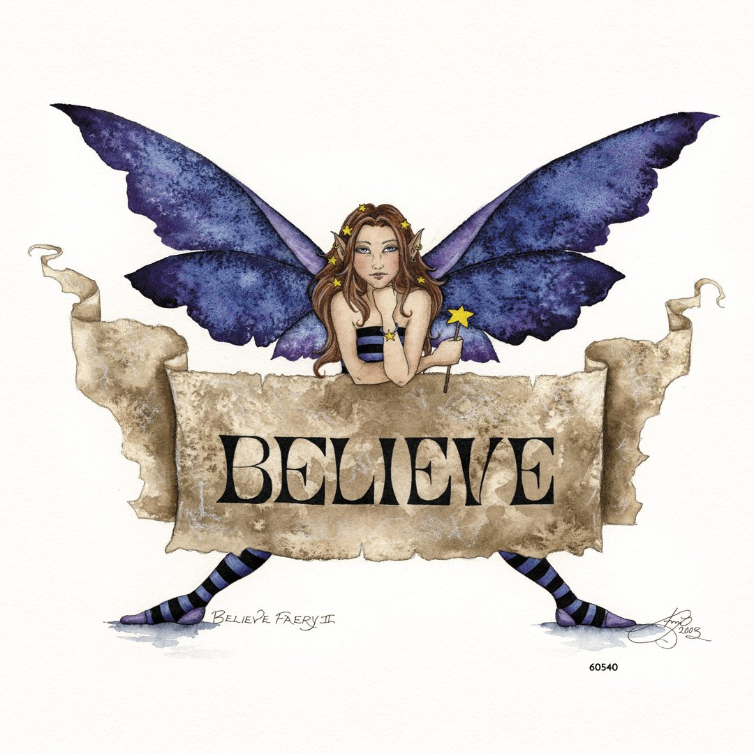 60540 3.5x3.5 Inches Tree-Free Greetings Refrigerator Magnet Believe Fairy 2 by Amy Brown