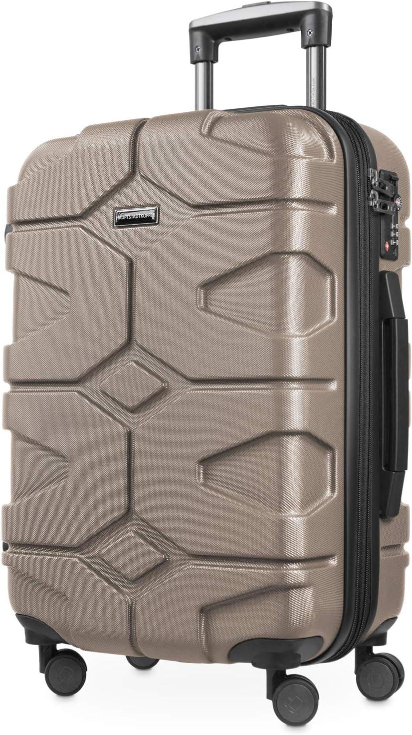 HAUPTSTADTKOFFER - X-Kölln - Equipaje de mano extensible, ABS, TSA, 55cm, 50L, Dorado