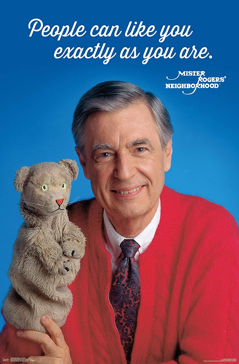 Amazon Com Trends International Mister Rogers As You Are Wall Poster 22 375 X 34 Multi Posters Prints