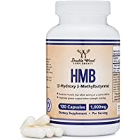 HMB Supplement, Third Party Tested, for Muscle Recovery, Growth, and Retention (Protein Synthesis) - Made in USA, 120 Capsules, 1000mg Per Serving