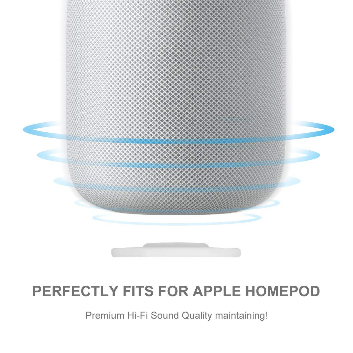 Base de Soporte para Apple Homepod Soporte para Altavoz de Apple HomePod YuStar Acero Inoxidable Antideslizante