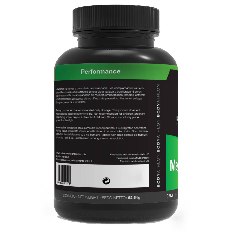Bodyathlon - Magnesio, 90 cápsulas, 225 mg: Amazon.es: Salud y cuidado personal