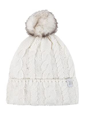 b015640fe2a HEAT HOLDERS Ladies 1 Pack Heat Weaver Cable Knit Pom Pom Hat - Cream -  One. Roll over ...