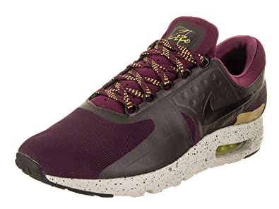 6d2de9fefe2 Nike Men s Air Max Zero SE Bordeaux Black Velvet Brown Running Shoe 9