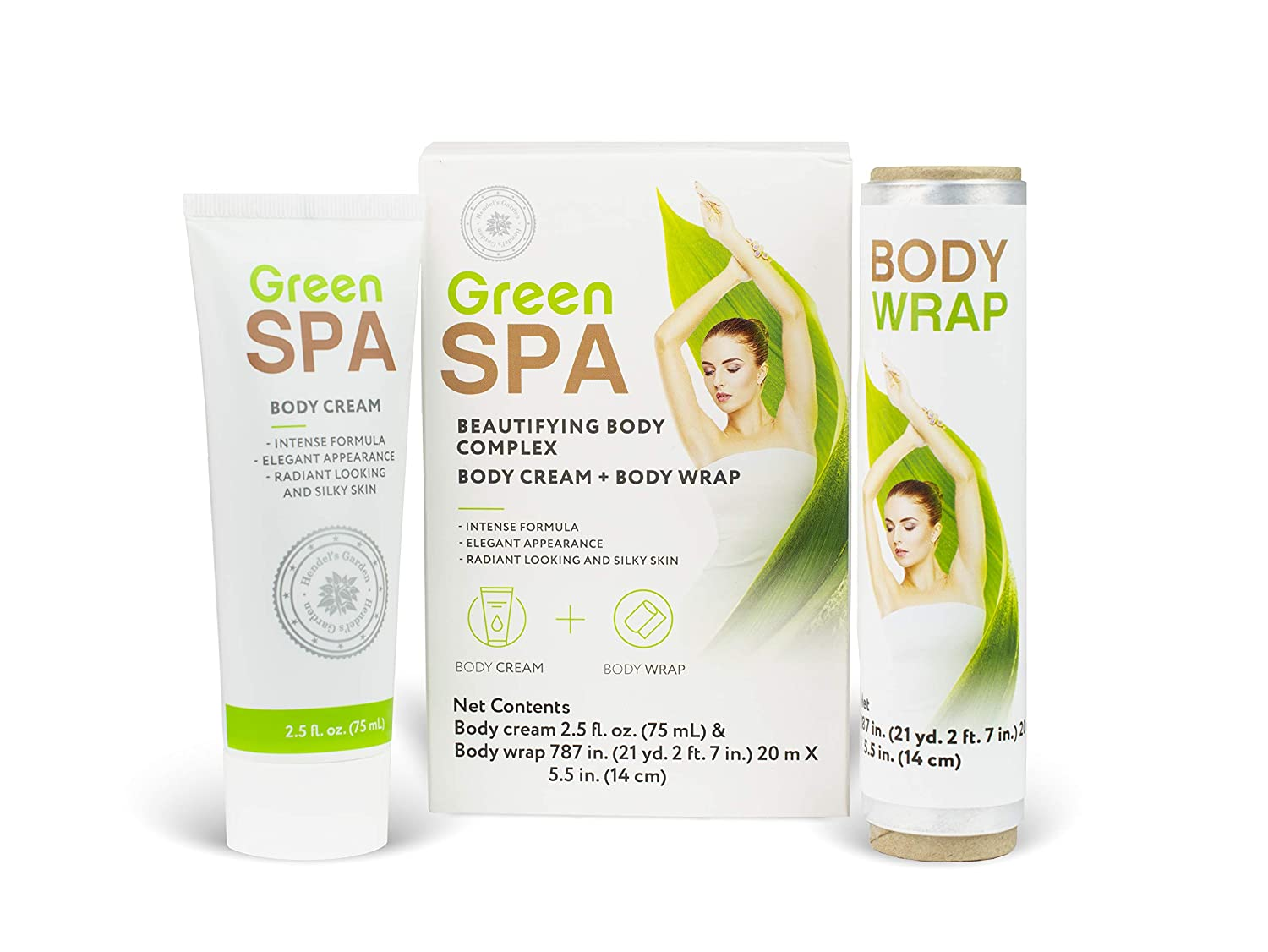 Detox Stomach Wraps for Weight Loss, Body Wrap to Get Skinny - Slimming Spa Treatment for Cellulite, Weight Loss and Contouring, Belly Wrap to Get Rid of Belly Fat - Body Cream & Body Wrap By Hendel