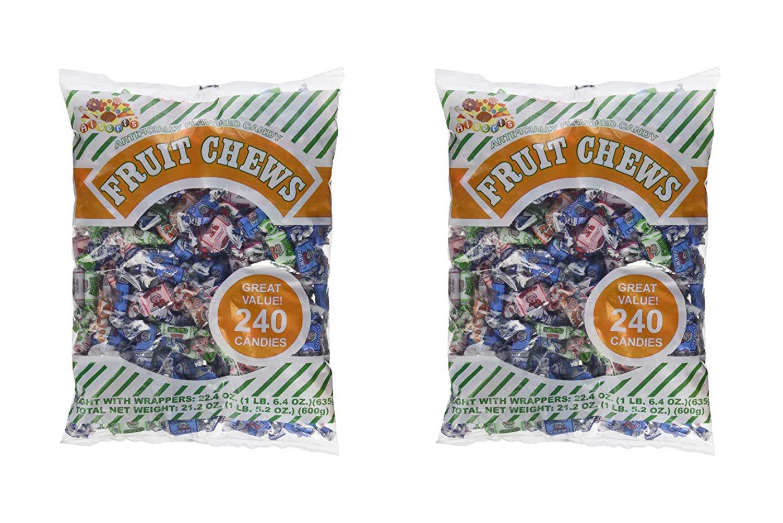 Albert's Fruit Chews - Assorted Flavors (240 Candies) (2 Pack)