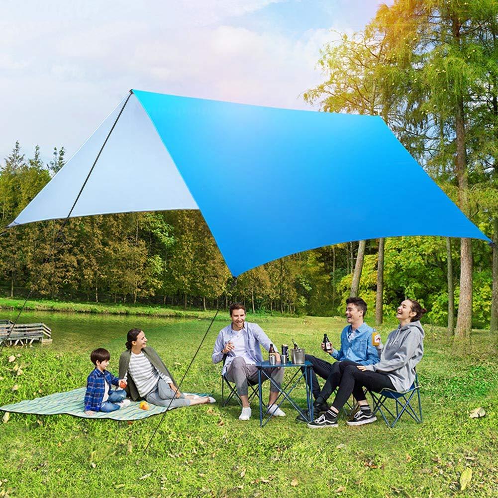 Picnic Mat AUTOPkio Hamaca Rain Fly Tarp Lona de Tienda Impermeable de 3mx3m Lona del toldo del Refugio Que acampa 210T Impermeable tafet/án poli/éster Ligero para sombrilla al Aire Libre