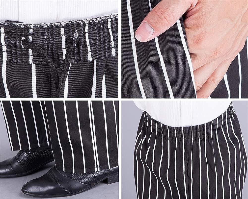 Insun Homme Pantalon de Chef Boulanger Pantalons de Travail Pantalons de Boucher