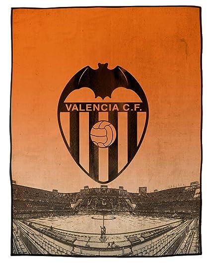 Asditex Manta Rachel Valencia C.F. 130x170 - Manta de Viaje - Estampado con el Escudo del