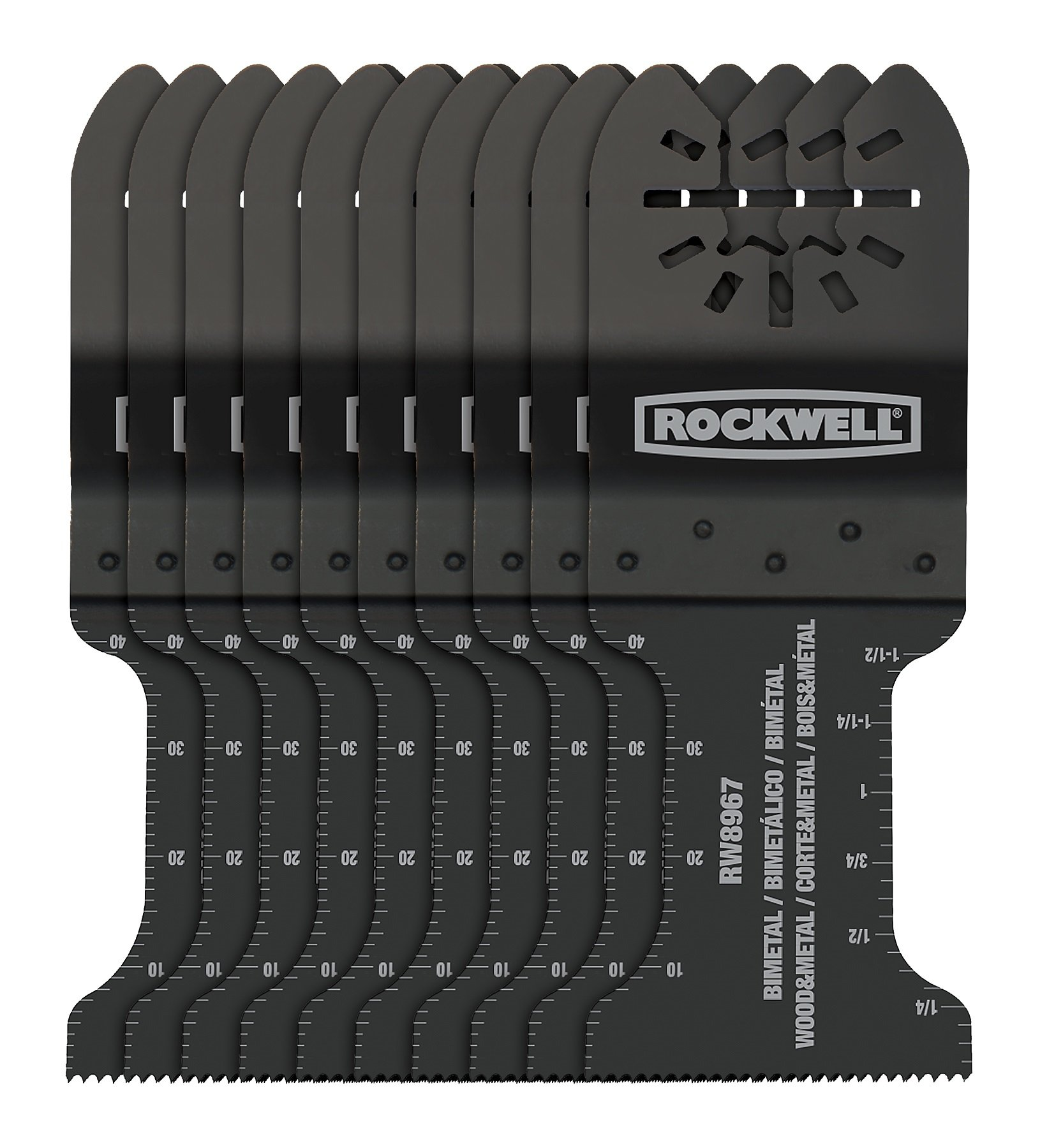 Rockwell RW8967.10 Sonicrafter Extended Life Wood & Nail End Cut Blade (10-Pack), 1-3/8''