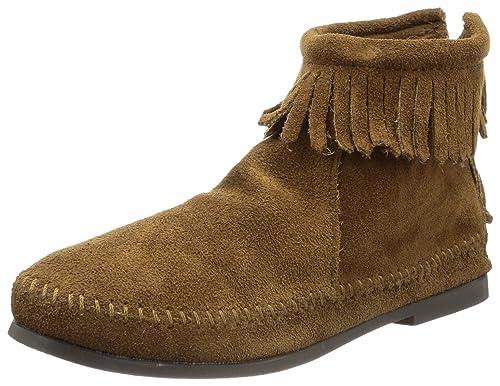 Minnetonka Back Zip Boot, Damen Kurzschaft Mokassin Boots, Braun (Dusty  Brown 3) 4b594a044b