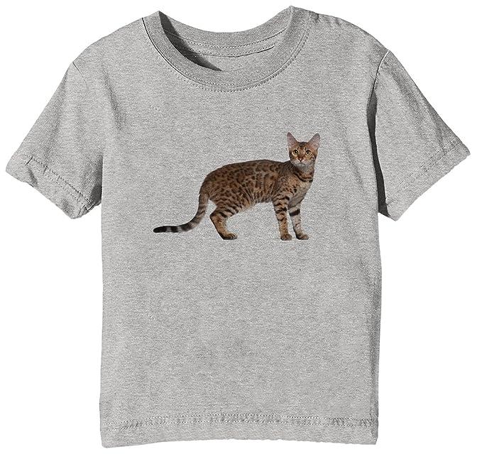 Bengala Gatto Razza Bambini Unisex Ragazzi Ragazze T Shirt Maglietta