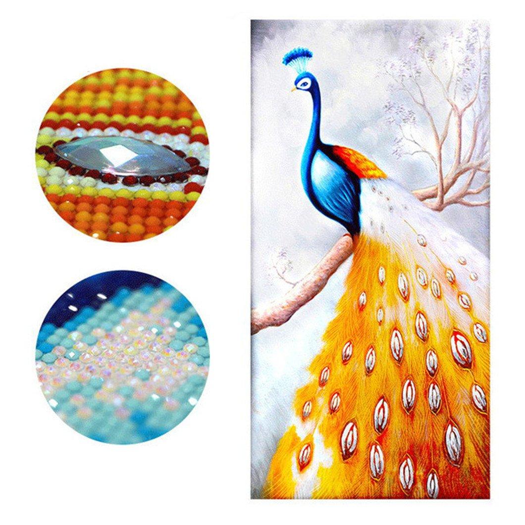 Mazixun Peacock Special Shaped Diamond Embroidery Animal Full DIY Diamond Painting Cross Stitch Diamond Mosaic Bead Picture Decor