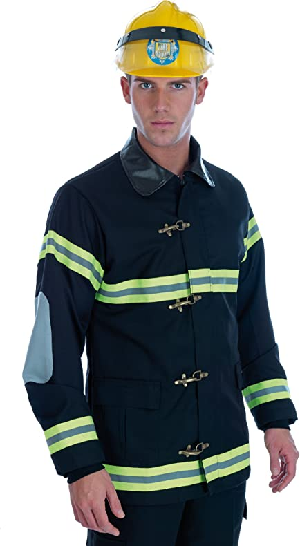 Amazon Com Mens Firefighter Fancy Dress Costume Size S M L Xl Xl