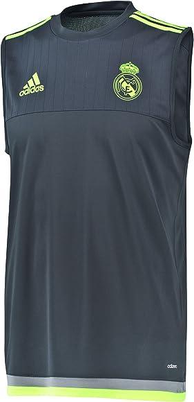 adidas Real Madrid Sleeveless Camiseta, Hombre, (Deepest Space F10 ...
