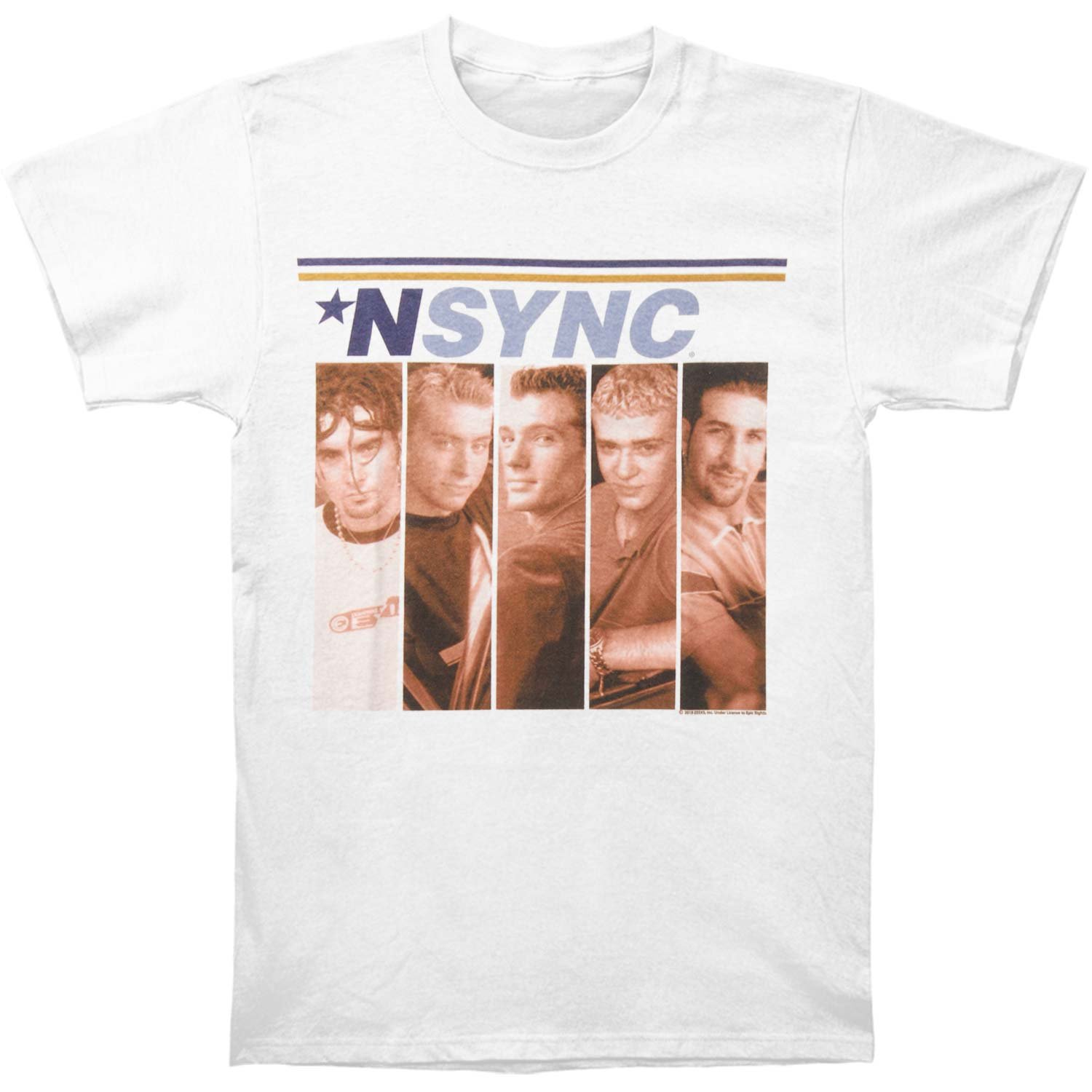 American Classics NSYNC Men's Boxes T-Shirt XX-Large White