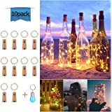 Qedertek 8 Pack Luces LED de Botella, 2M 20 LED Guirnalda ...