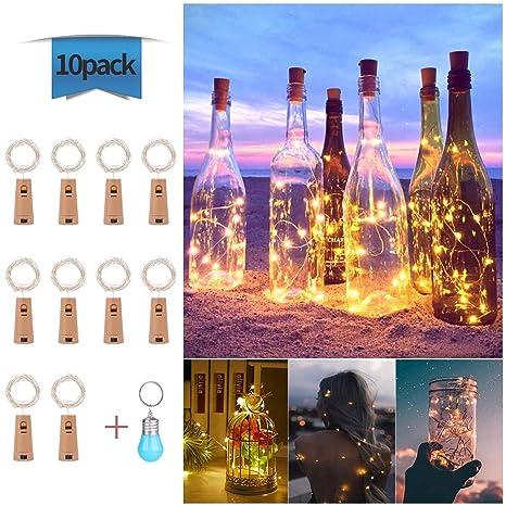 Luces de Botella Cadenas Luces para Botella de Vino Luz Corcho Lámpara Decorada, EVILTO LED DIY Guirnaldas Luces Románticas para Boda, Navidad, ...