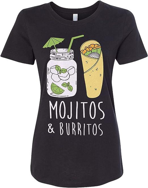 Mojitos /& Burritos Women/'s Fitted T-Shirt Fun Drinking Shirt
