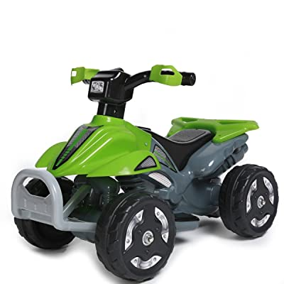 Kaylee Kids Ride On 6V Battery Powered ATV Quad, Green: Toys & Games
