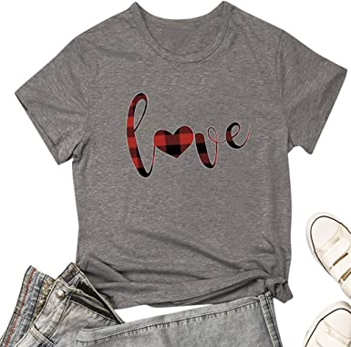 Womens T Shirt Casual Funny Inspirational Short Sleeve O-Neck Blouses Graphic T-Shirt Tops Tees Basic Summer Tops