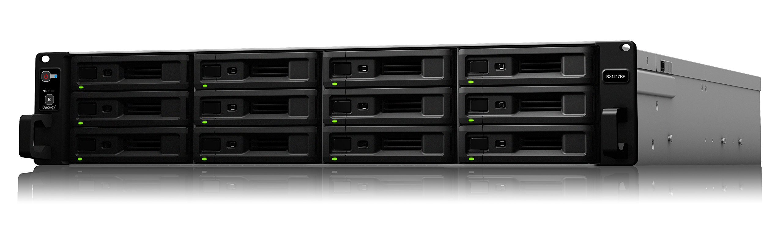 Synology RX1217RP Redundant Power Expansion for RackStation (Diskless) 1 Plug-n-use design for seamless storage space upgrade Online volume expansion on the fly Redundant power supplies ensure service uptime