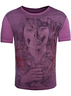 Akito Tanaka Herren T-Shirt Geisha Skull Frau Totenkopf Printshirt Asiatisch e7e79bfb6d