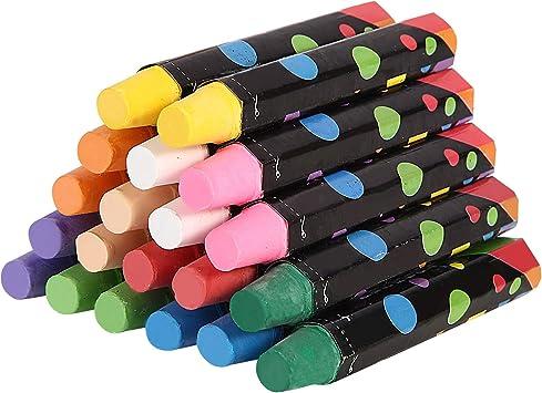 Yealsha 20 pcs Dust-Free Water-Based Chalk Non-Toxic Chalk for School Kindergarten Home Chalk