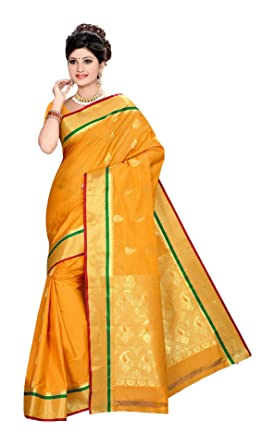 6f458834e06bf Image Unavailable. Image not available for. Colour  Rs Art Silk Saree ( Tissue Border Butta Mustard Gold)