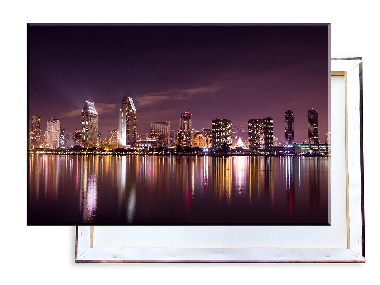 Unified Unified Unified Distribution San Diego Skyline - 120x80 cm - Bilder & Kunstdrucke fertig auf Leinwand aufgespannt und in erstklassiger Druckqualität 1031cb