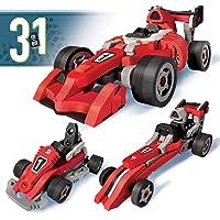 BLOCO TOYS 3 in 1 Race Car | STEM Toy | Formula 1, Go Kart & Dragster | DIY Building Construction Set (200 pieces)