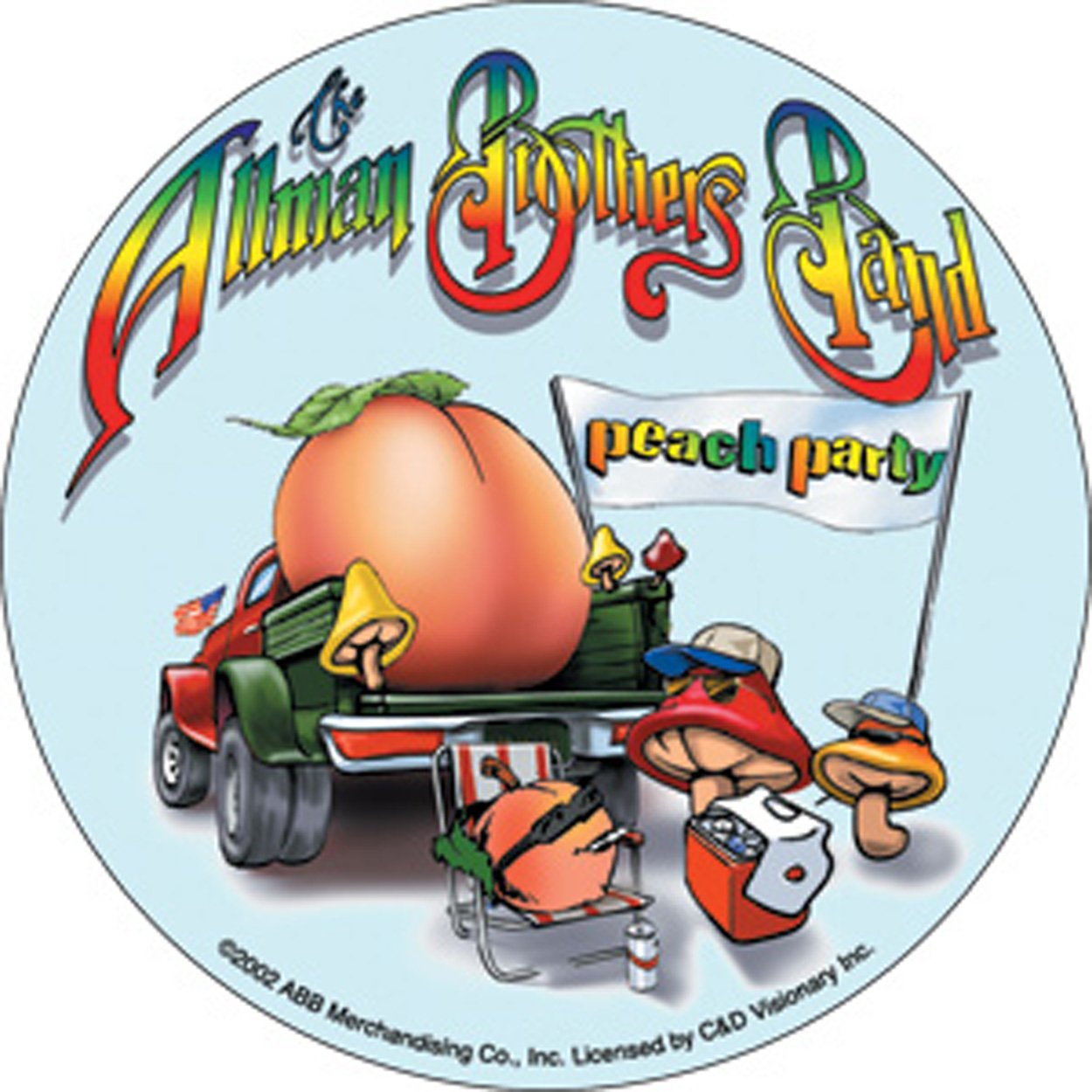 Licenses Products Allman Peach Party Sticker C/&D Visionary Inc S-1869