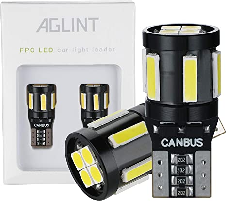 targa cupola bagagliaio AGLINT T10 lampadine LED CANBUS senza errori mappa W5W 194 168 cuneo per interni auto luci di posizione bianco