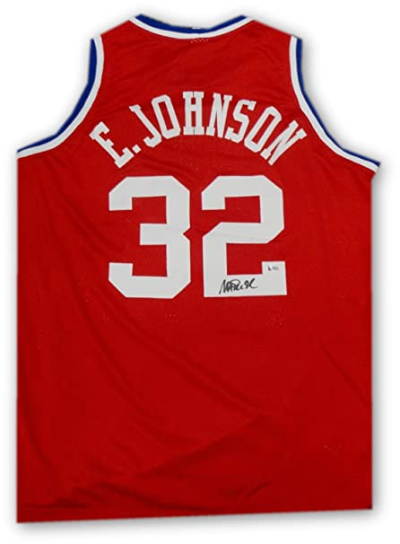 7510ec04f53 Magic Johnson Hand Signed Autographed All Star Jersey LA Lakers Beckett COA