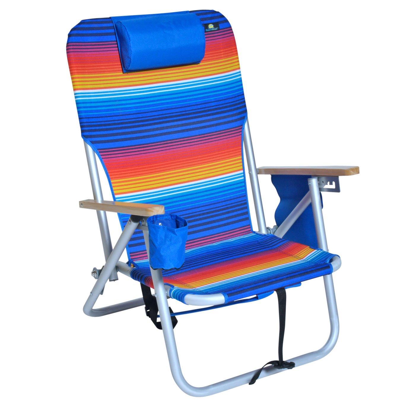 バックパックアルミ椅子4位置軽量理想的なのビーチキャンプ屋外Tailgating by JGR Copa B01MZHX6M4  マルチ Add Dry Cell / Storage Pouch on Arm Rest