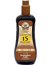 Australian Gold Spray Gel with Bronzer Sunscreen SPF 15, Coco Dreams, 237 Milliliters