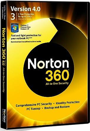 Symantec Norton 360 v.4.0 - Seguridad y antivirus (Caja, 1 usuario(s), 300 MB, 256 MB, 300 MHz, ENG): Amazon.es: Software
