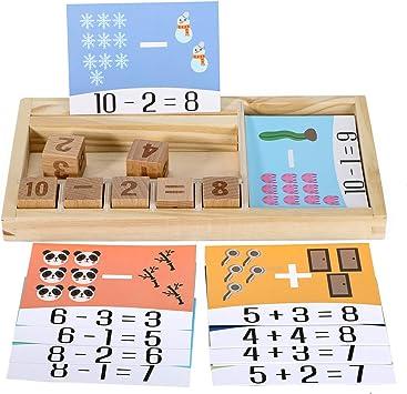 Jane Choi Juego de números de Madera para niños pequeños: Amazon.es: Juguetes y juegos