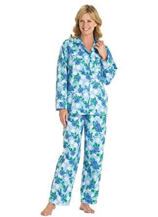 Floral Flannel Pajamas at Amazon Women's Clothing store: Pajama Sets
