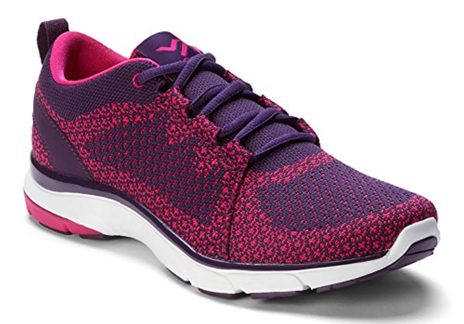 Vionic Women's Flex Sierra Lace-up B01N1URNM4 8 B(M) US|Dark Purple/Pink
