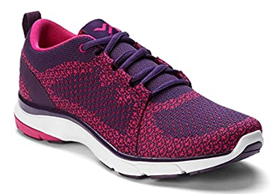Vionic with Orthaheel Technology Women's Sierra Dark Purple/Pink Synthetic  Purple 6 Wide