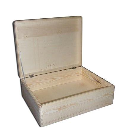 2 x Cofre para regalos, caja de herramientas con tapa para decorar 40x 30 x14cm