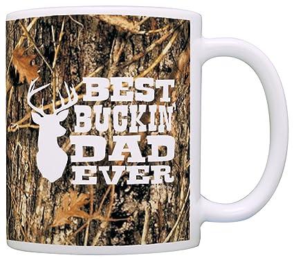 904d07944 Amazon.com: Hunting Camo Best Buckin' Dad Ever Gift Coffee Mug Tea Cup  Camo: Kitchen & Dining