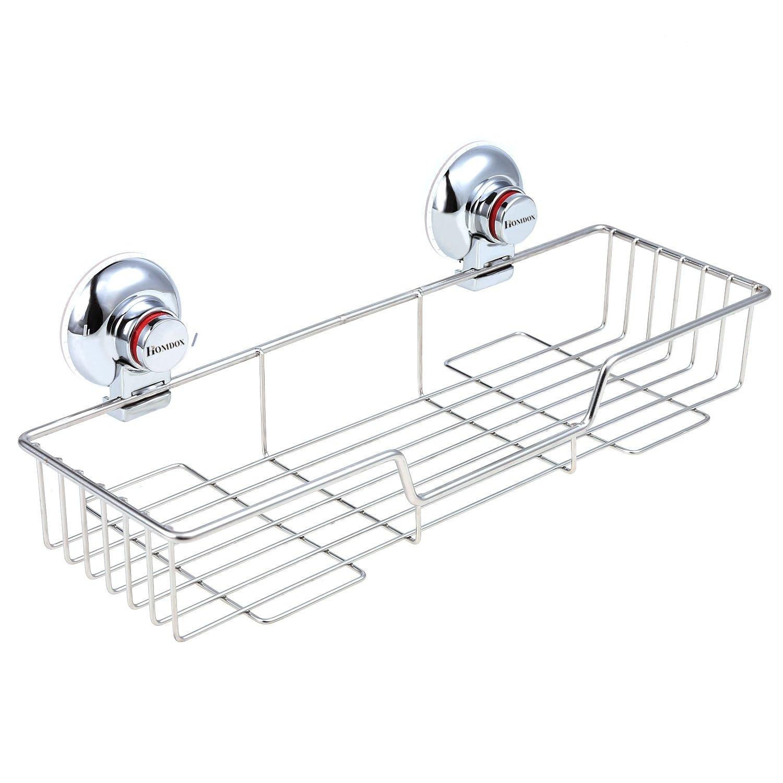 Eshion Rustproof Stainless Steel Rectangle Shower Caddy Shelf Storage