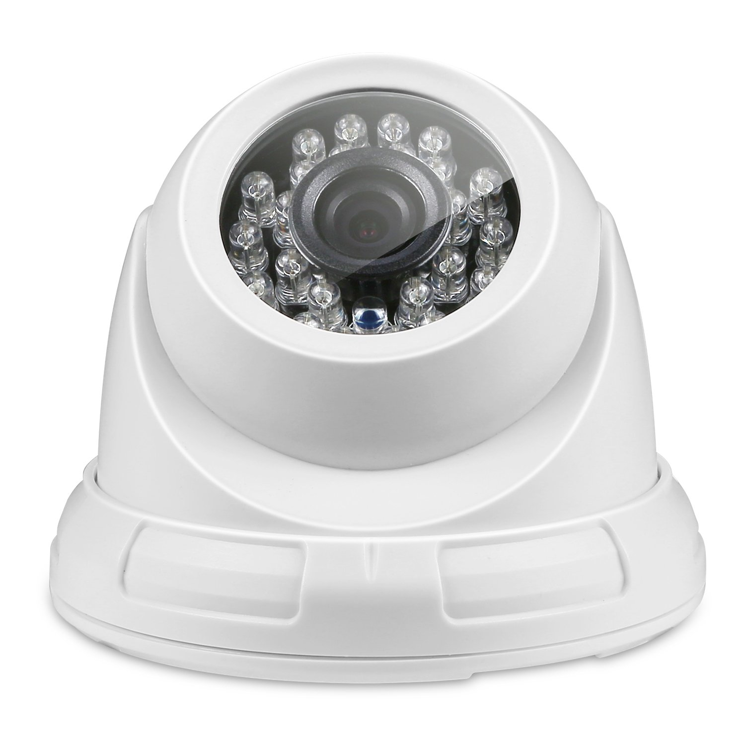 ANNKE TVI HD 720P Security In/Outdoor CCTV Dome Camera with Weatherproof Housing, 66ft Super Night Vision