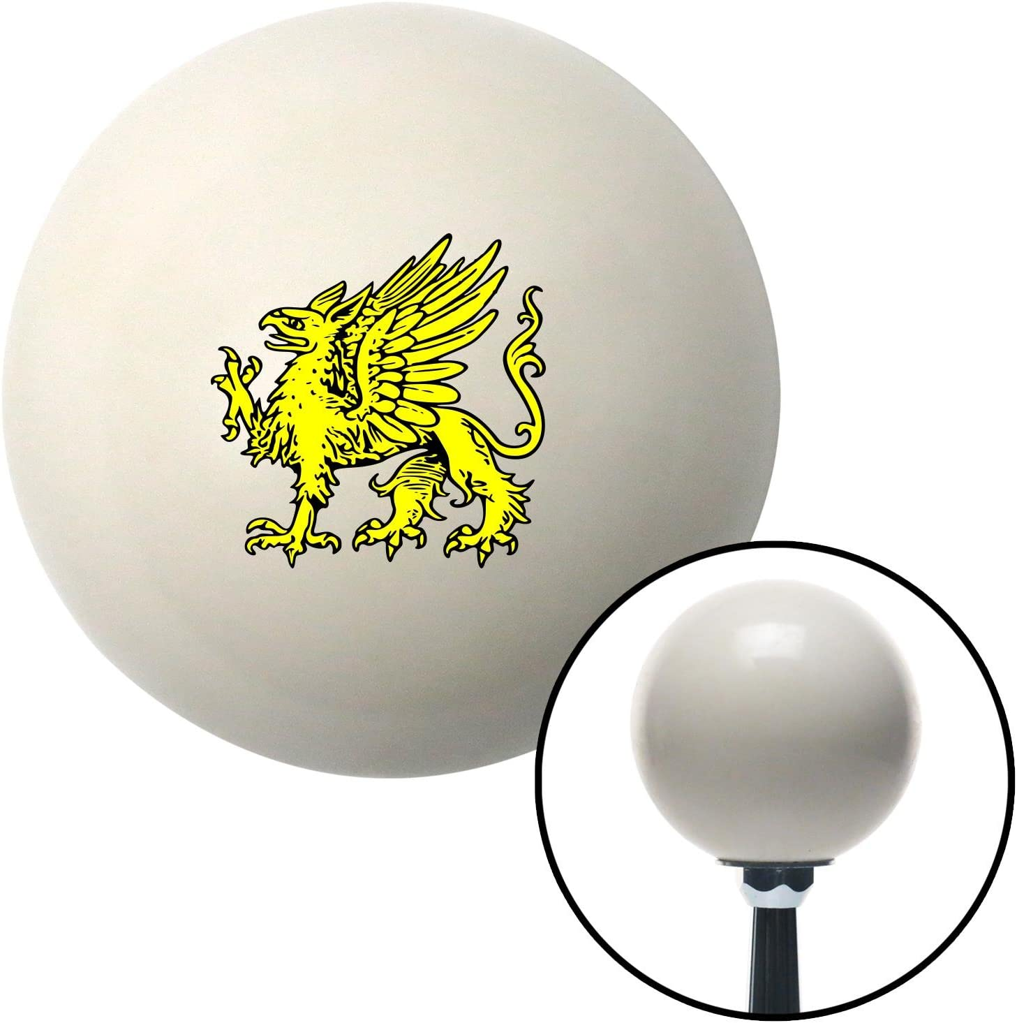 American Shifter 76107 Ivory Shift Knob with M16 x 1.5 Insert Golden Griffin