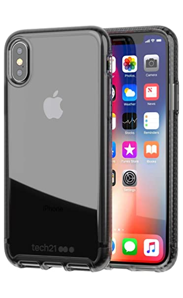 low priced 6156b 880ce Amazon.com: Tech21 Pure Clear Case for Apple iPhone X - Smoke: Cell ...