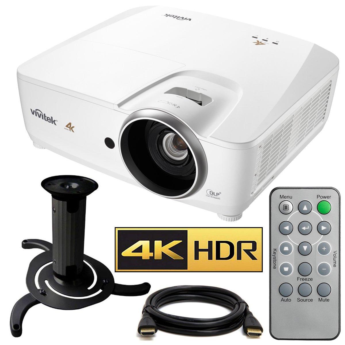 Vivitek HK2288 4K DLP Projector with High Dynamic Range (White) with Ceiling Bracket Bundle