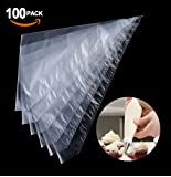 100PCS Pastry Bags Thickened Strong Disposable Piping Icing Bags for Cake / Cupcake Decorating